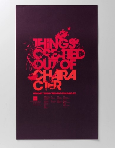 Graphic design poster typography Typography Graphic Design Posters