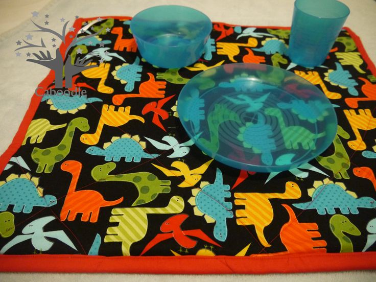 Dinosaur #caboodlesnackmat #Snackmats are great for taking out and about as an individual absorbent picnic mat which folds neatly into a change bag.  These can be ordered from stock or designed and made to your specifications. Also available with a waterproof backing!