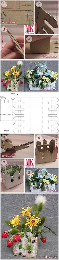 забор из картона