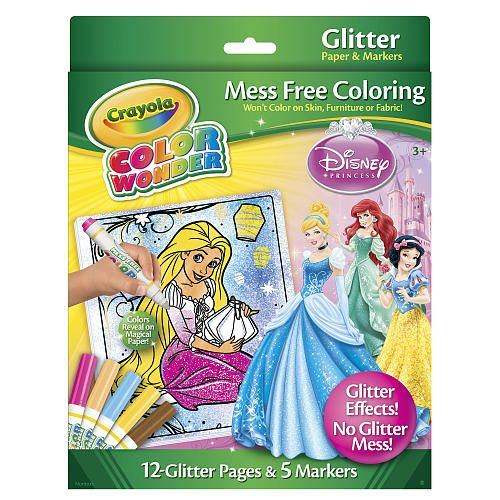 crayola color wonder glitter coloring set disney princess crayola - Color Wonder Books