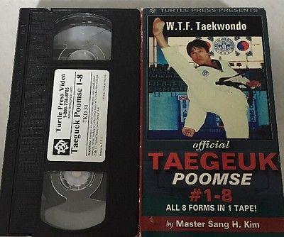 WTF taekwondo Official Taegeuk Poomse #1-8 Master Sang H Kim VHS Tape