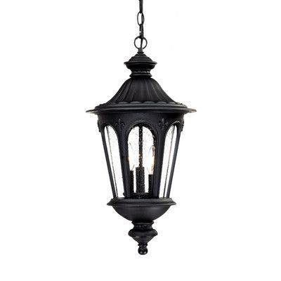Acclaim Lighting Marietta 3 Light Outdoor Hanging Lantern Finish: Matte Black