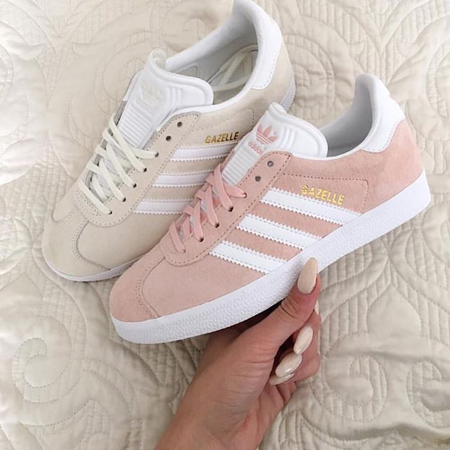 Today our #KickzOfTheDay Adidas Gazelle Vapour Pink & Off White ----- Inspired by @dresslikemila | Would you #ROCK or #DROP them? Let us know thoughts ----- Shop online @ LocoKickz.com - click the link in the bio to be redirected!