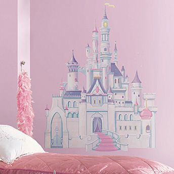 Disney Princess Castle Giant Wall Decal with Glitter | RoomMates Wall Decals