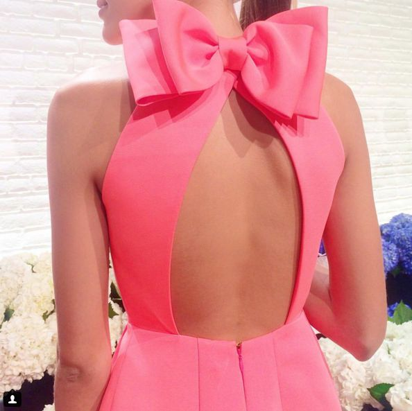 Kate Spade pink bow dress...this could be a cute Disney bounding Marie dress