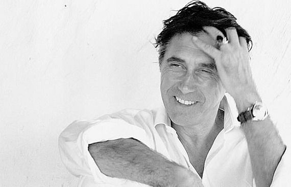 Bryan Ferry - classic white shirt and black leather watch