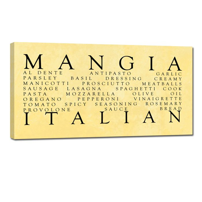 mangia Italian stock canvas