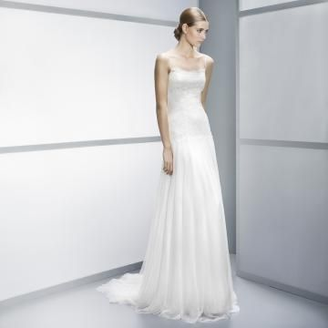Kort Erme Blonde Glidelås Billige Bryllupskjoler