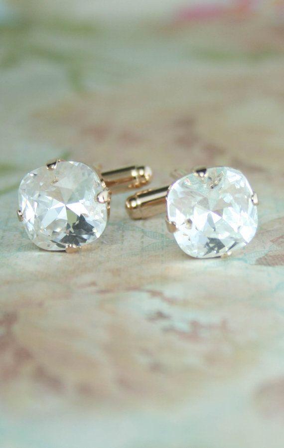 Cuff links | cufflinks | wedding cuff links | crystal cufflinks | | www.endorajewellery.etsy.com