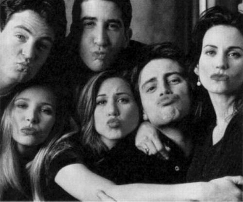 This is so cute and chandler looks like he's sucking a lemon: