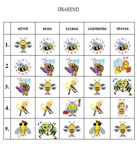 Játékos tanulás és kreativitás: Méhecskés órarend