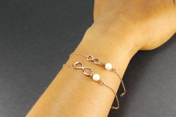 Mother Daughter Infinity bracelet SET  Large & by ElseDesigns