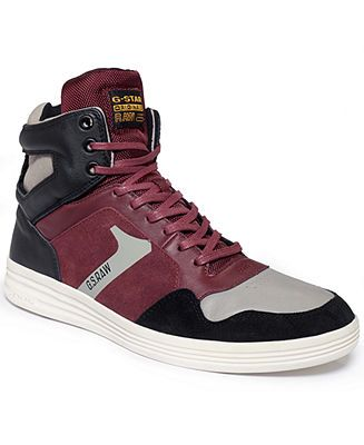 G-Star RAW Shoes, Futura Outland Suede Hi-Top Sneakers - Shoes - Men - Macy's