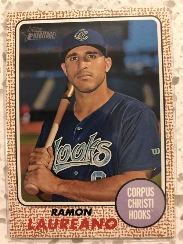 Ramon Laureano 2017 Topps Heritage Minor League Oakland As Rookie