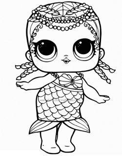 lol doll coloring pages printable in 2020  mermaid