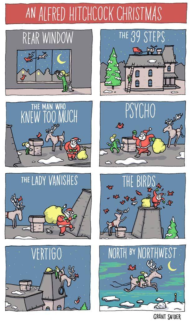 Père Noël VS. Alfred Hitchcock