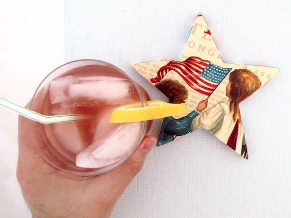 How to make star shaped coasters for the 4th of July