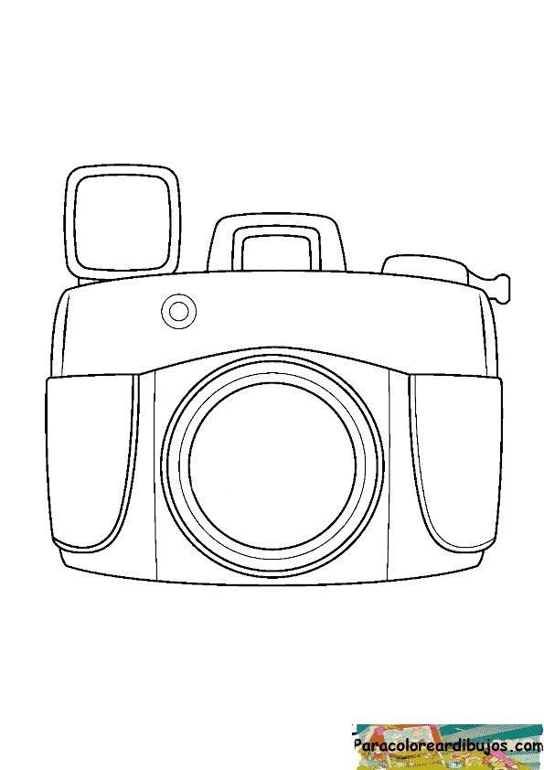 dibujo de camara de fotos para colorear