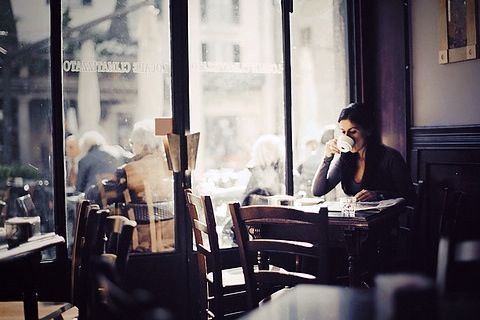 coffee shop and a good book!