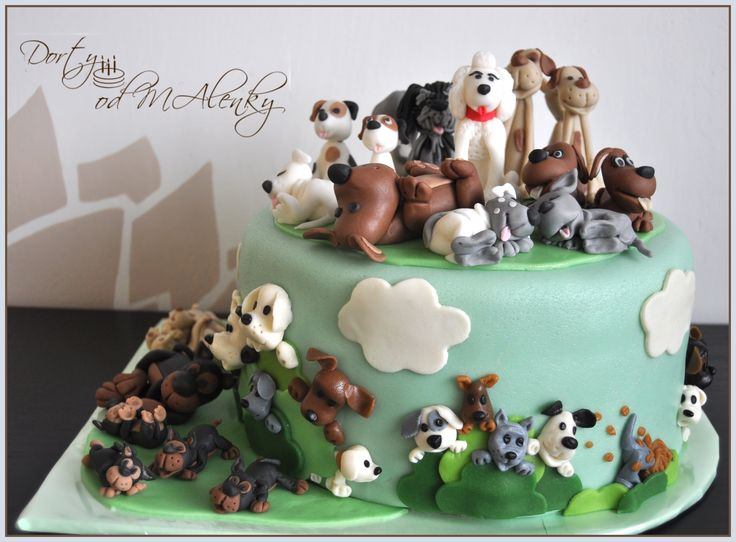Dort se 49 pejsky, Cake with 49 dogs