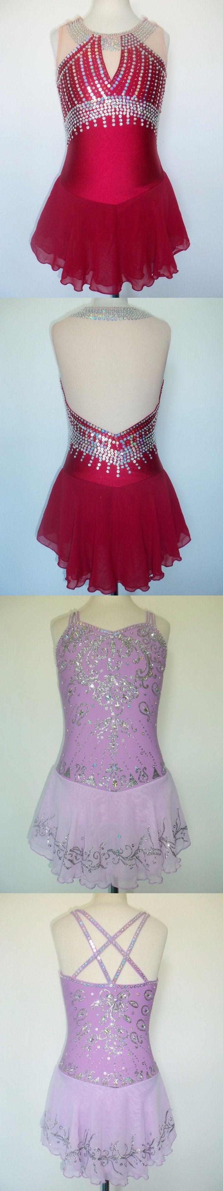 Skating Dresses-Girls 21226: Custom Made Figure New Ice Skating Baton Twirling Dress -> BUY IT NOW ONLY: $170 on eBay!