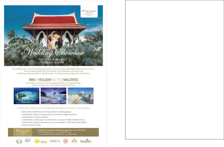 Wedding Showcase at Centara Grand Beach Resort & Villas Hua Hin - http://www.thaimediapr.com/wedding-showcase-at-centara-grand-beach-resort-villas-hua-hin/   #ประชาสัมพันธ์ #ข่าวประชาสัมพันธ์ #ฝากข่าวประชาสัมพันธ์ #ฝากข่าวประชาสัมพันธ์ฟรี #ฝากข่าวpr
