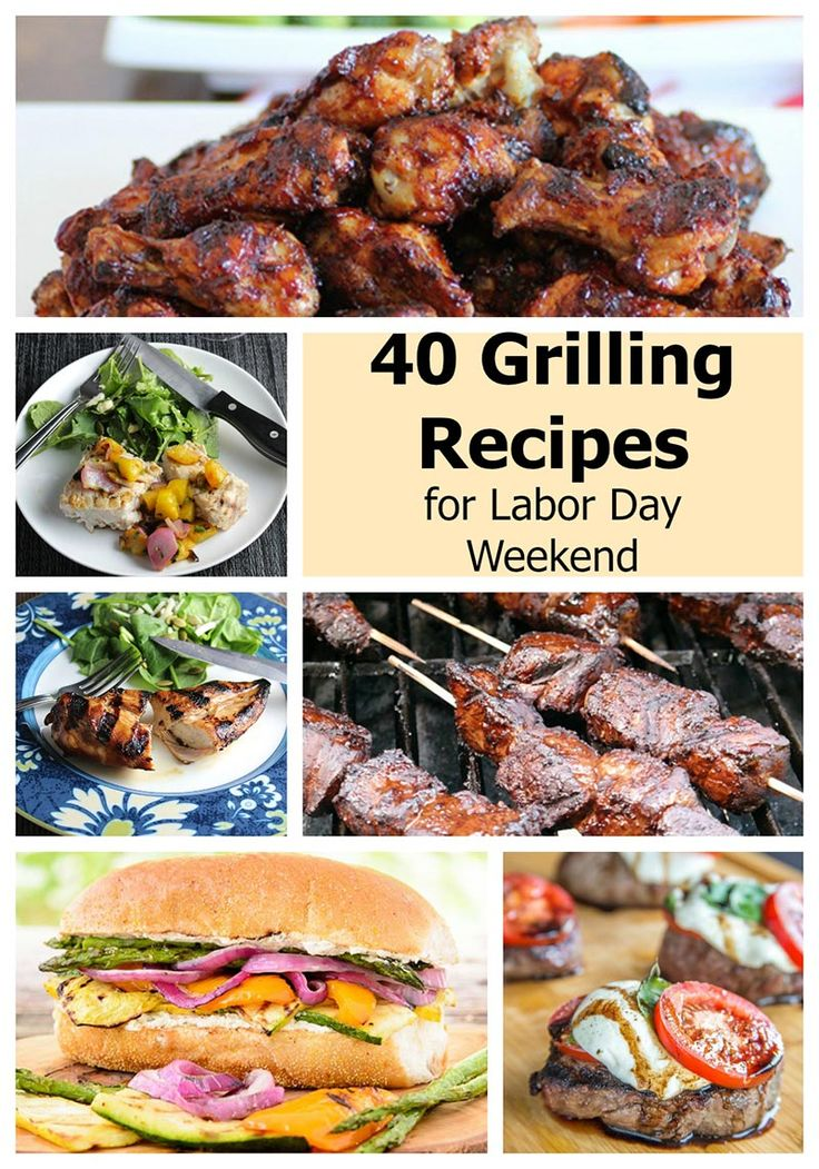 Round up of 40 grilling recipes from a talented group of food bloggers, including meat, veggies, chicken, and seafood.