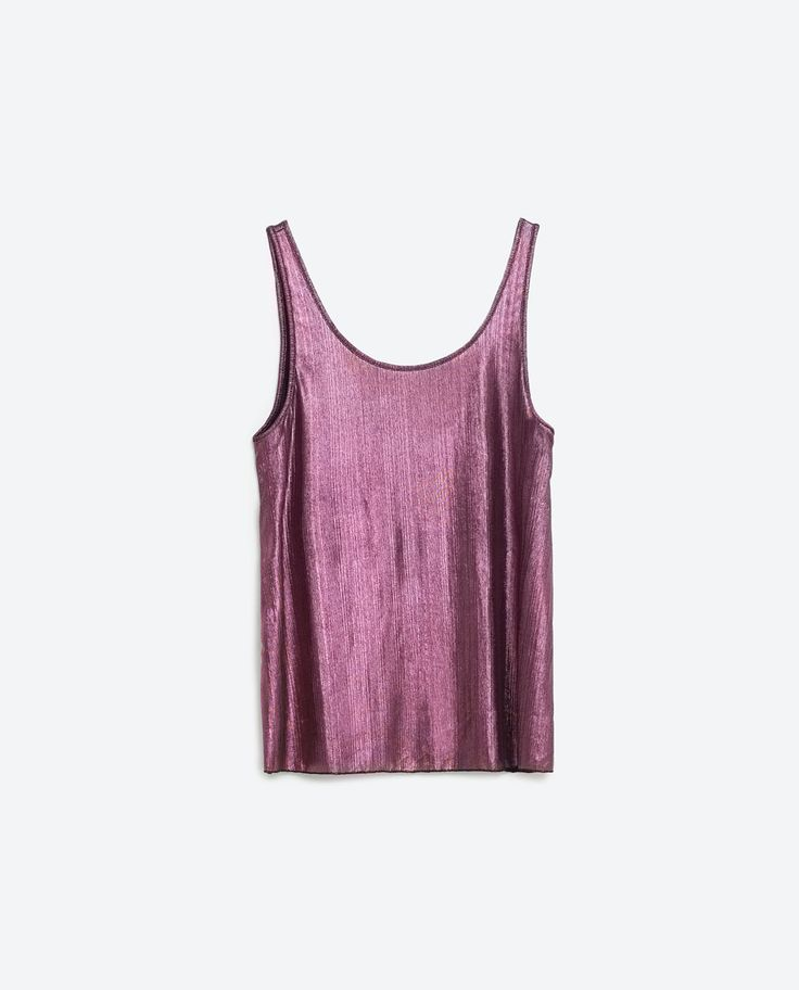 Image 6 of METALLIC TOP from Zara