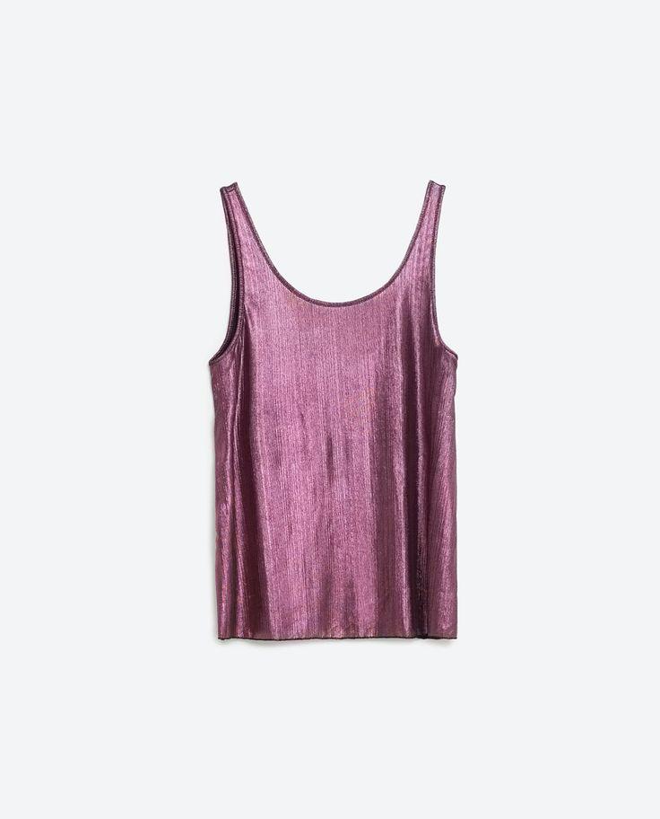 Image 6 of METALLIC TOP from Zara