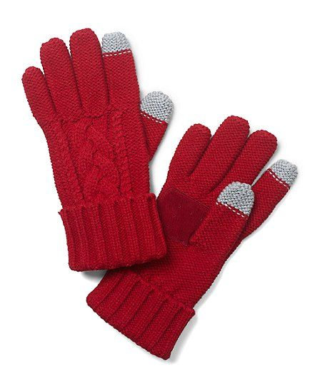 Sensor Touch Knit Gloves - Brooks Brothers
