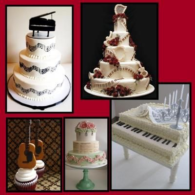 Music Themed Wedding Cakes