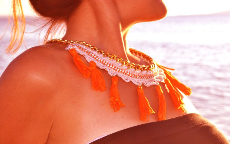 crochet necklace by WED.LAB