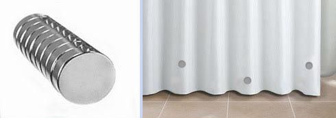 How To Stop Your Shower Curtain From Blowing In: Magnets and Weights for Shower Curtains