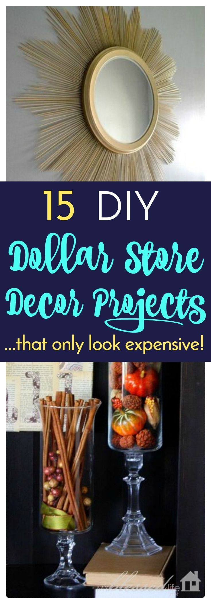 15 DIY Dollar Store Decor Projects That Only Look Expensive #diy #dollarstore