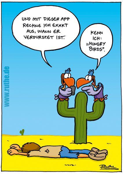 Cartoon hungry birds
