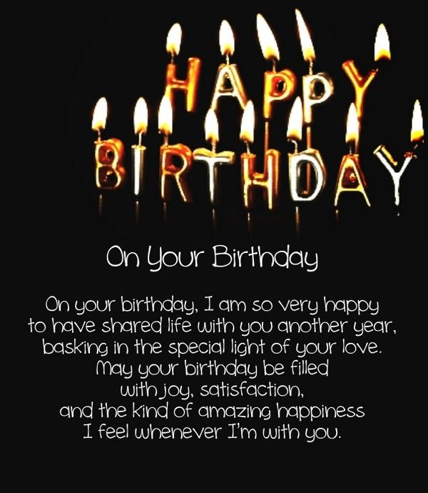 Short Birthday Love Poems Images