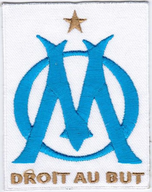 Ligue 1 Olympique de Marseille l'OM Football Badge Iron On Embroidered Patch