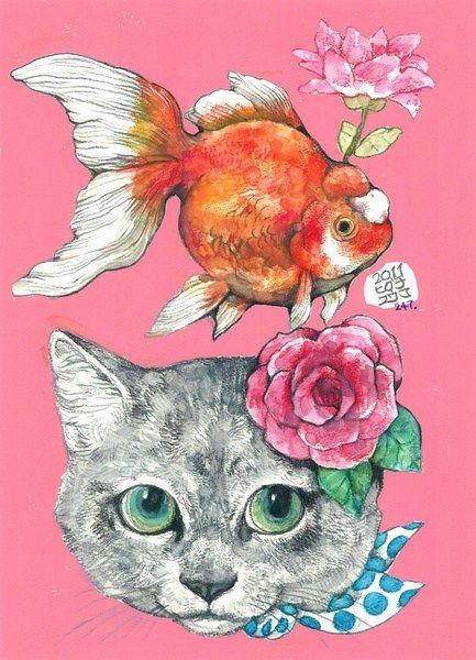 Cat Wallpapers by Yuko Higuchi