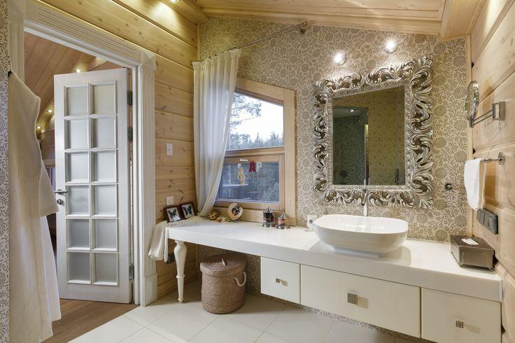 Фото интерьера гостевого санузла дома в современном стиле