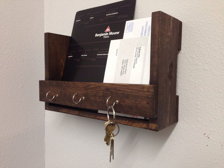 Mail/Key holder, Mail Organizer, Wall Storage Shelf by CenterCreekCreations on Etsy https://www.etsy.com/listing/221393741/mailkey-holder-mail-organizer-wall