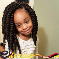 "African Braid Styles Short 12"" 14"" 16"" 1pc Havana Mambo Twist Crochet Braids Marley Braiding Hair Extension For Kids And Women"
