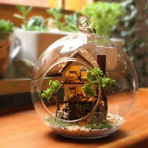 Miniature Mode DIY Forest Dream House of Glass Bottle