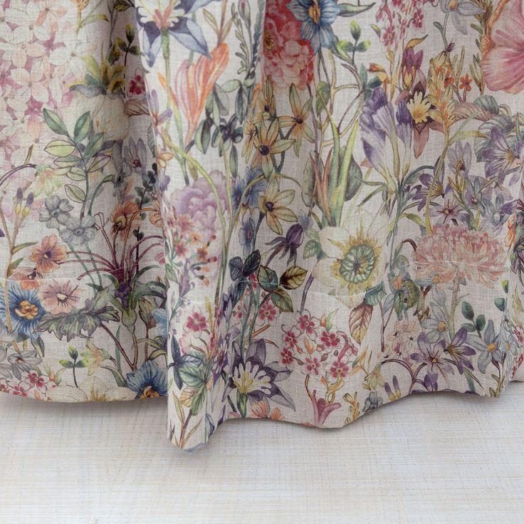 LINEN FLORAL-PRINT CURTAIN - Curtains - Bedroom | Zara Home United Kingdom