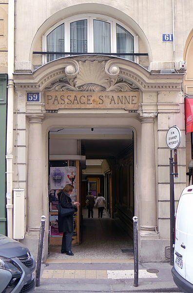 Passage Sainte-Anne , 59 rue Ste Anne- Paris 2ème