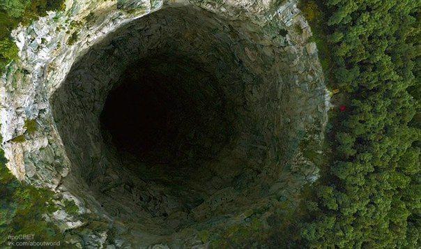 La Cueva de las Golondrinas, México.