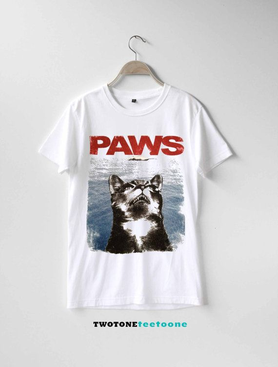 Cat Paws Jaws Shirt TShirt T-Shirt T Shirt Tee by TwoToneTeeToOne