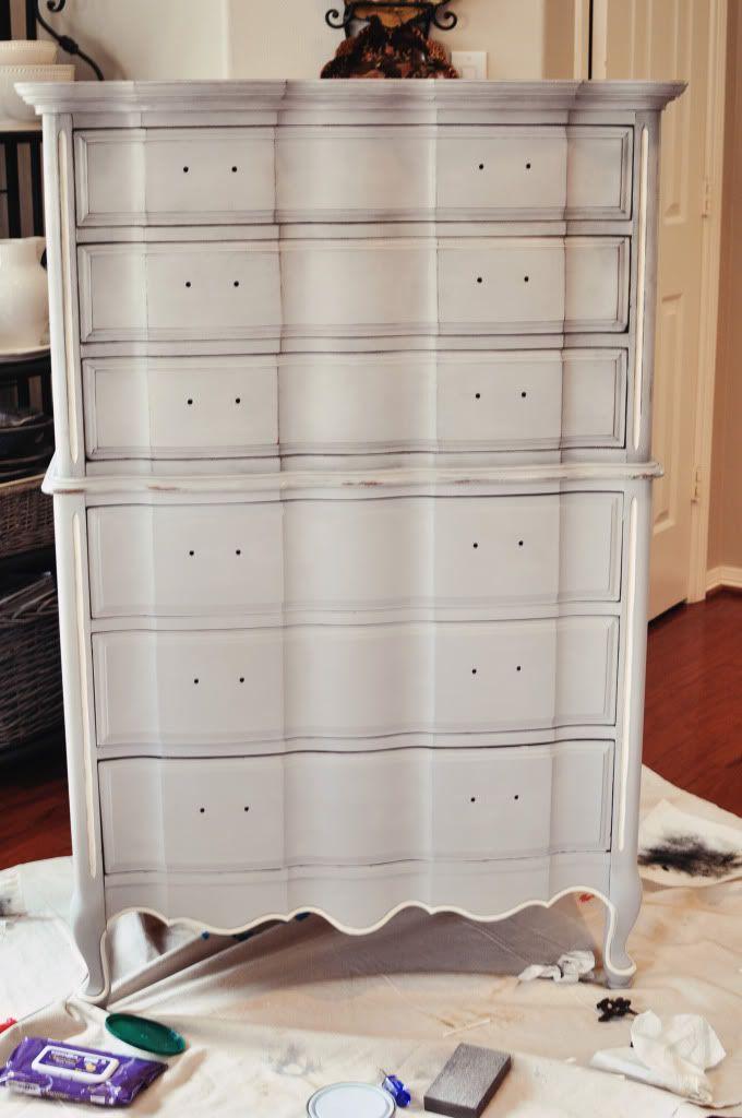 Painting furniture - dark wax treatment.
