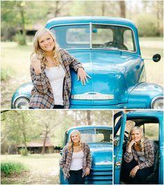 Senior with old truck | Decatur Mississippi Senior Photographer | Hope Davis Photography