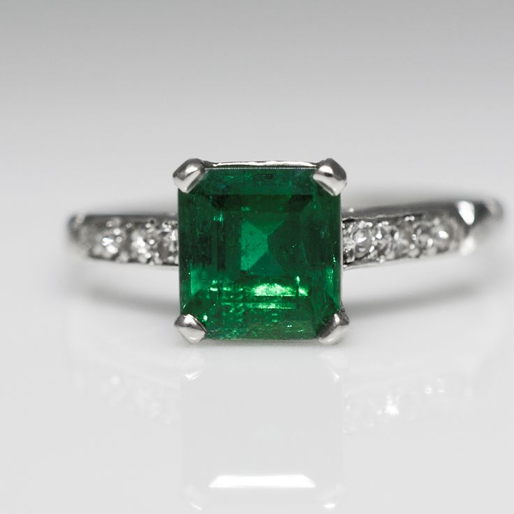 Vintage Colombian Emerald Ring - Claude Morady Estate Jewelry