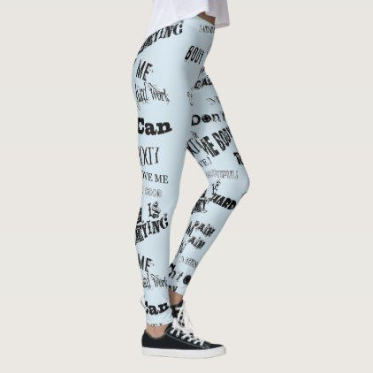 Gymgear Leggings – Word Art with Positive Messages | Zazzle.com – yoga pants